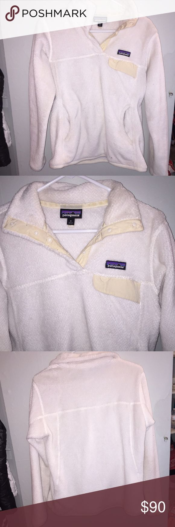 White/cream Patagonia fleece pullover Perfect condition Patagonia Sweaters