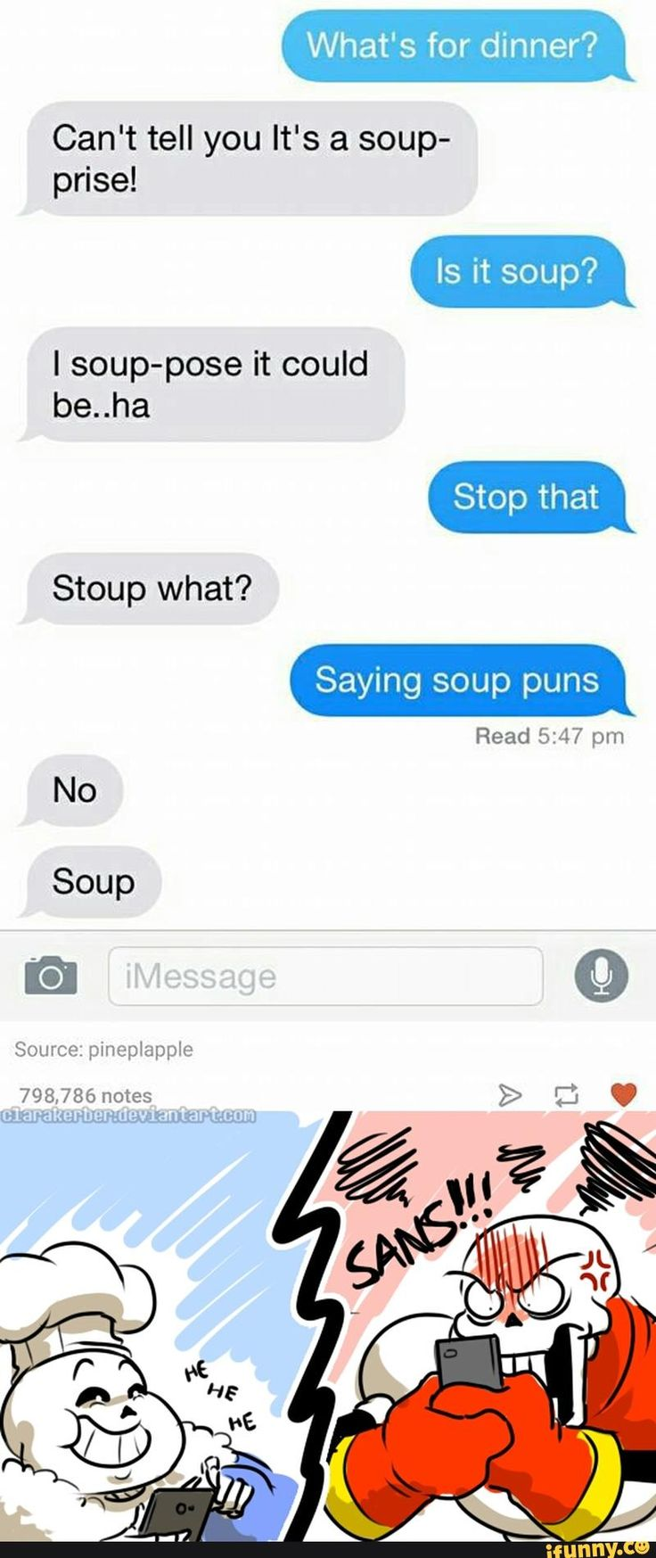 UNDERTALE Sans and Papyrus | Soup Puns