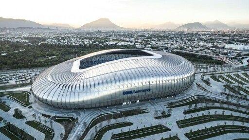 Monterrey, Nuevo León, México. Estadio BBVA Bancomer, sede del equipo de futbol Los Rayados.
