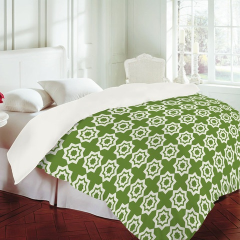 "Khristian Howell ""Moroccan Mirage Green"" Duvet Cover"