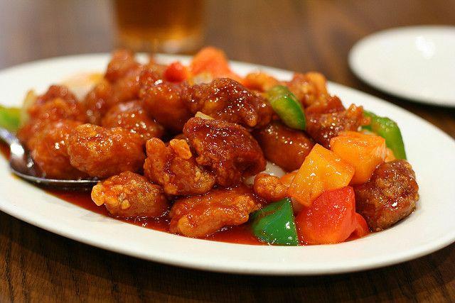 Recette porc l 39 ananas la sauce aigre douce cuisine for Cuisine asiatique