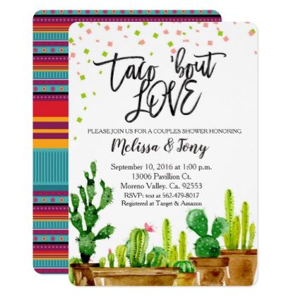 Fiesta Couples Shower Invitation Taco Bout Love  $2.25  by HappyPartyStudio  - cyo customize personalize unique diy idea