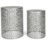 Found it at Temple & Webster - Set of 2 Round Silver Side Tables