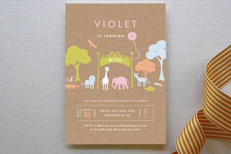 Day at the Zoo Children's Birthday Party Invitations by community designers at minted.com