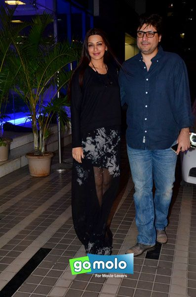 Sonali Bendre & Goldie Behl at Sajid Khan's birthday party in Mumbai