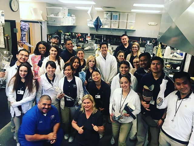 It's always very rewarding and humbling to be able to teach the next generation about our clinical expertise. Hosting the Pima Medical Institute physical therapy students for an AFO clinic. #oandp #lasvegas #tgif