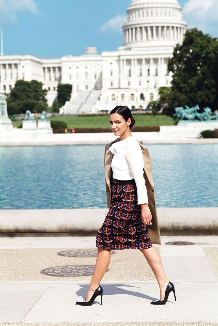 Tricks for nailing outfits that have personality in a conservative, tradition-bound culture. On Brandon: coat, Belstaff; top, Giulietta; skirt,Tanya Taylor; pumps, Tabitha SimmonsHer job: Abbey Brandon, 24, is a press assistant at the Bipartisan Policy...