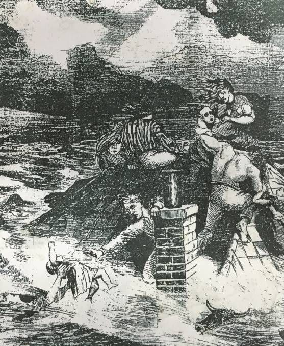 Flood history of Windsor NSW An artist's impression of the Eather tragedy from June 1867. Two women and 10 children were drowned at Cornwallis, a rescue boat arriving an hour too late. http://www.hawkesburygazette.com.au/story/3981114/floods-what-floods/