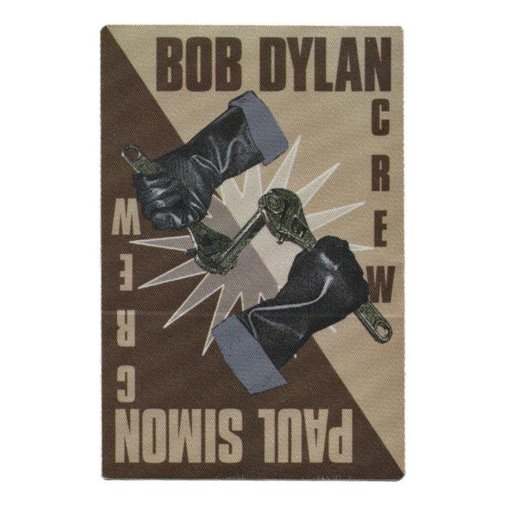 Bob Dylan Brown Crew Backstage Pass 1999 with Paul Simon