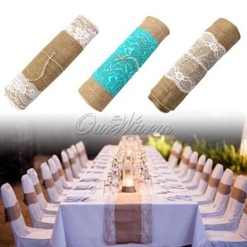 30x275cm Vintage Burlap Lace Hessian Table Runner Natural Jute Country Party Wedding adornment decoration-in Table Runner from Home & Garden on Aliexpress.com | Alibaba Group