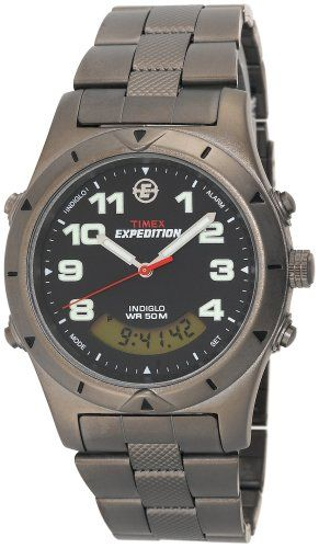 Men's Wrist Watches - Timex Mens T41101 Expedition Metal Field AnalogDigital Sandblasted Bracelet Watch *** Read more at the image link.