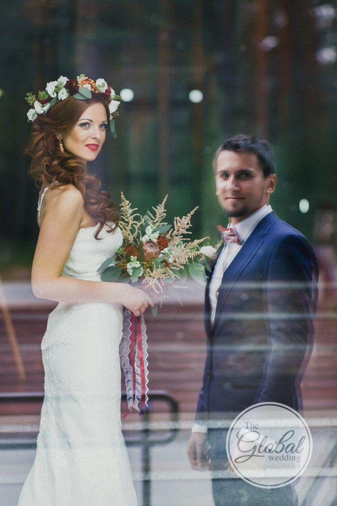 Berry wedding Flower crown Wedding bouquet Ягодная свадьба Лесные ягоды Венок Букет невесты
