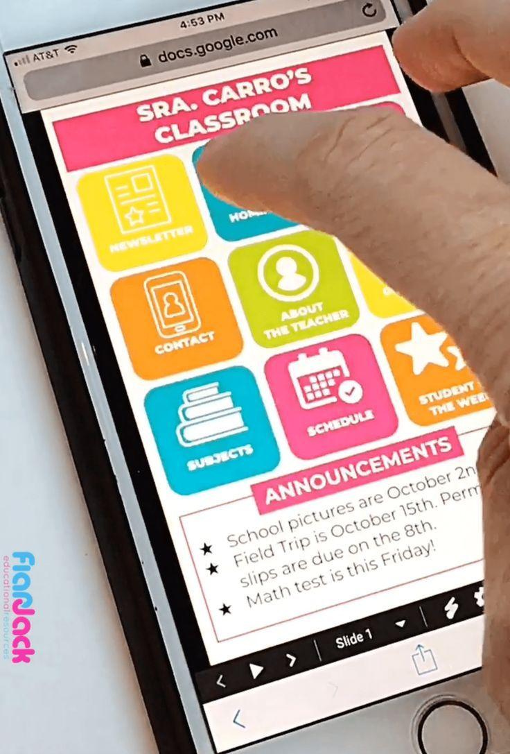 Pretty Smart Class Website Doc Google Slides Style In 2020