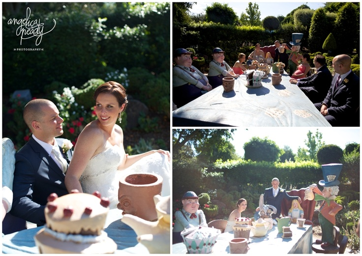 mad hatters tea party plus bridal party at Hunter Valley Gardens   Angelica Peady Photography