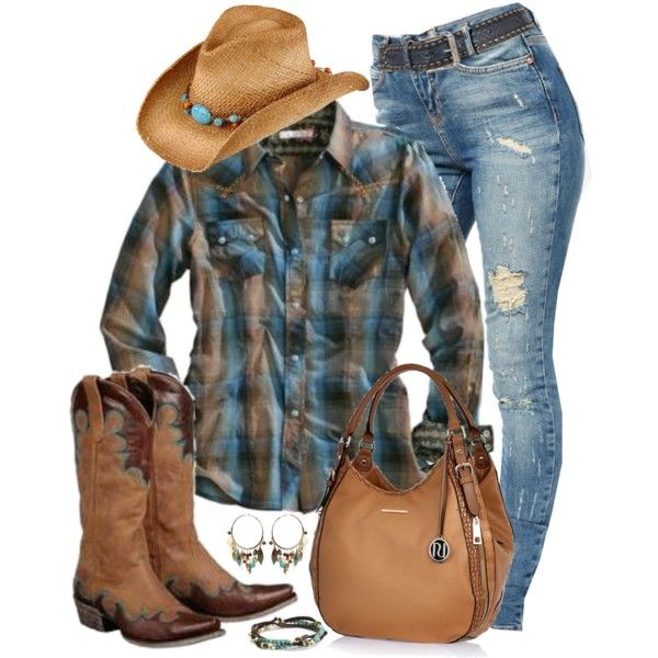Cowgirl Style, created by smylin on Polyvore