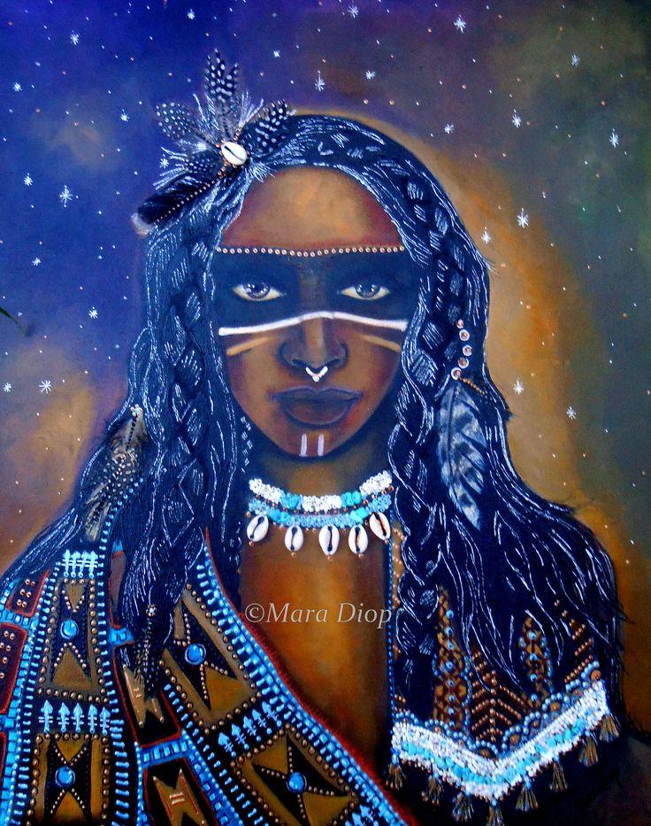 Untitled - Mixed media painting Mara Diop