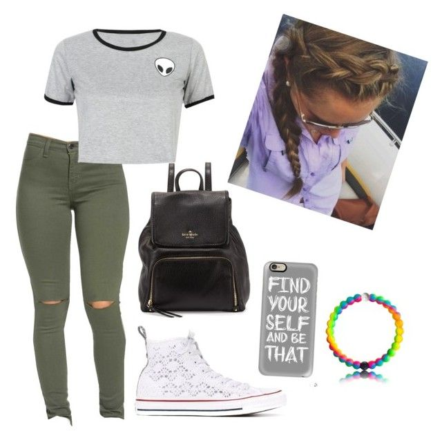 """""""How to wear outfits for school"""" by claralakey on Polyvore featuring WithChic, Converse, Kate Spade and Casetify"""
