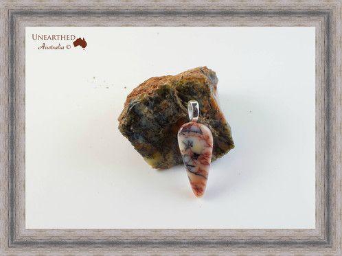 """Dendritic Opal Pendant """"Dragons Blood"""" SKU: UA149 AU$55.00"""