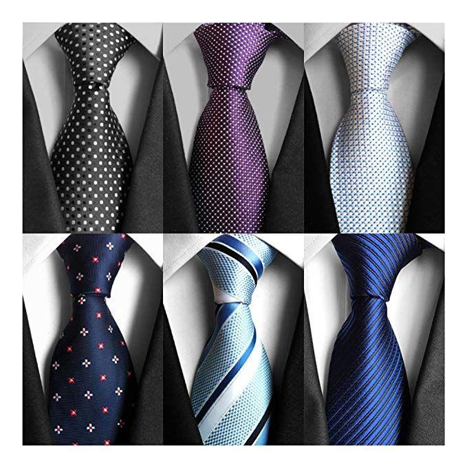 AVANTMEN 6 PCS Classic Men's Neckties Woven Jacquard Neck Ties Set (S10)  $30 Amazon | Neck tie, Ties mens, Ties mens fashion