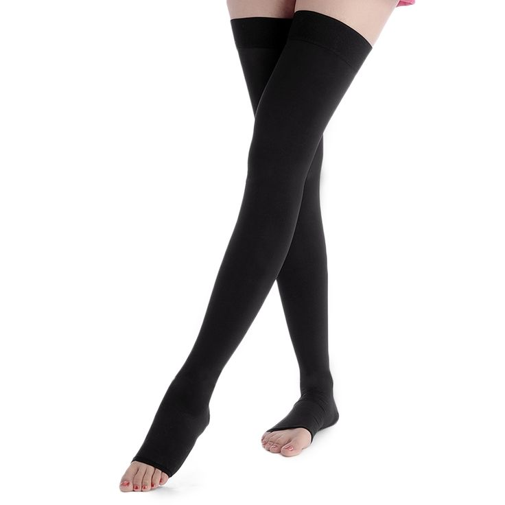 10.31$  Know more - 23-32 mmHg Firm Graduated Compression Stockings Pantyhose Moderate Pressure Stocking  Support Open Toes Stockings for Women   #buychinaproducts