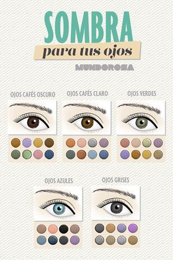 ¡Mantente bella! Utiliza la sombra acorde al color de tus ojos #colegiaturadecosmetologia #losmejoresdelmaquillaje