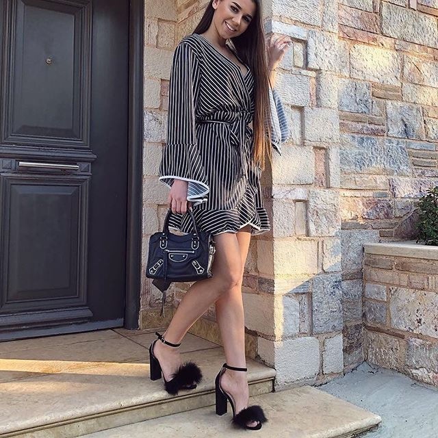 👉🏻 @kovalenko_valeria in the black fox fur heels! 👡  On Sale 🔥  👉🏻 hauteacorn.com .  .  .  #heels #furheels #furshoes #shoes #slides #furslides #fursandals #sandals #style #ootd #furstyle #streetstyle #realfur #fur