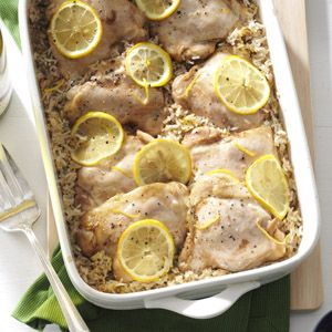 Lemony Chicken & Rice Recipe -I couldn't say who loves this recipe best, because every time I serve it, it gets raves! Occasionally I even get a phone call or email from a friend requesting the recipe, and it's certainly a favorite for my grown children and 15 grandchildren.—Maryalice Wood, Langley, British Columbia