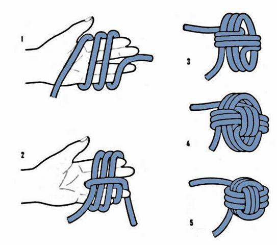 Tie monkey fist knot step step