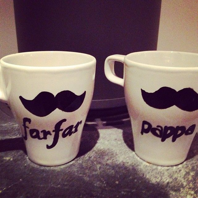 Hand made father´s day cups
