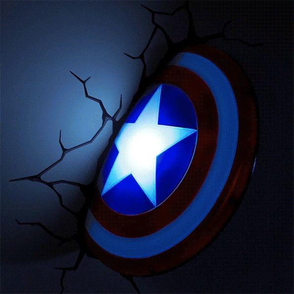 ThinkGeek :: 3D Deco Superhero Wall Lights