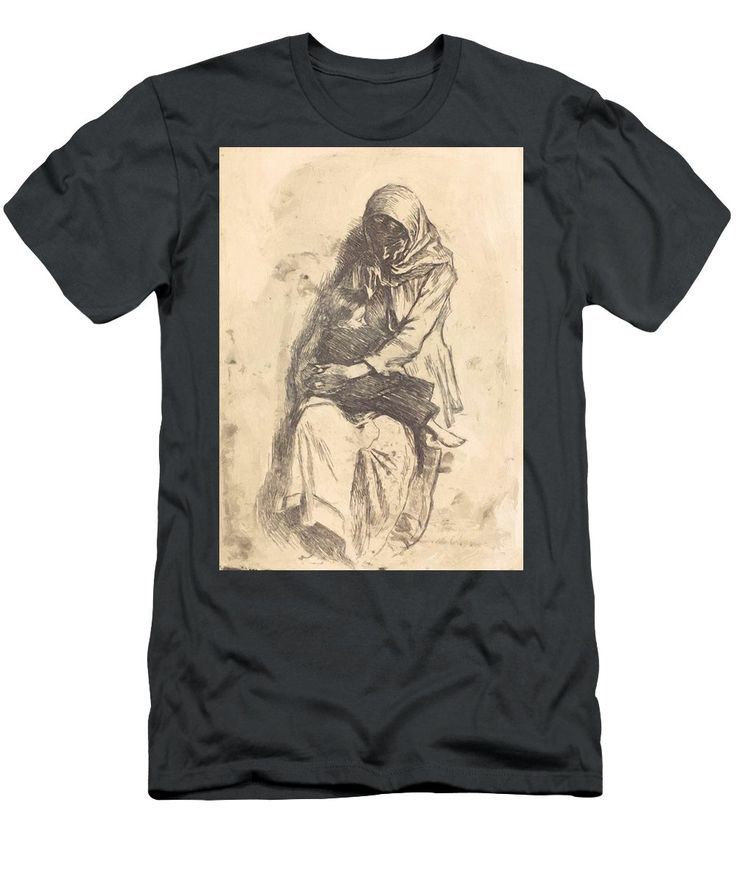 The Men's T-Shirt (Athletic Fit) featuring the painting The Refugees 1923 by Vermont Nicolae