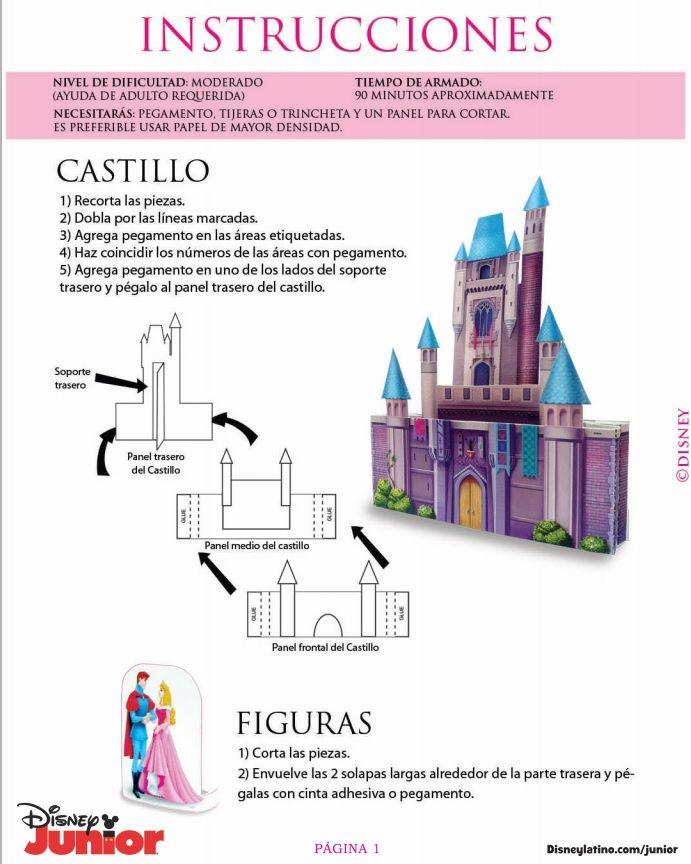 3D Castle - page 1 of 5 Instructions