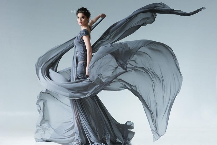 Filipina actress Ann Curtis wearing a gown created by Francis Libiran for Tyra Banks' ANTM...