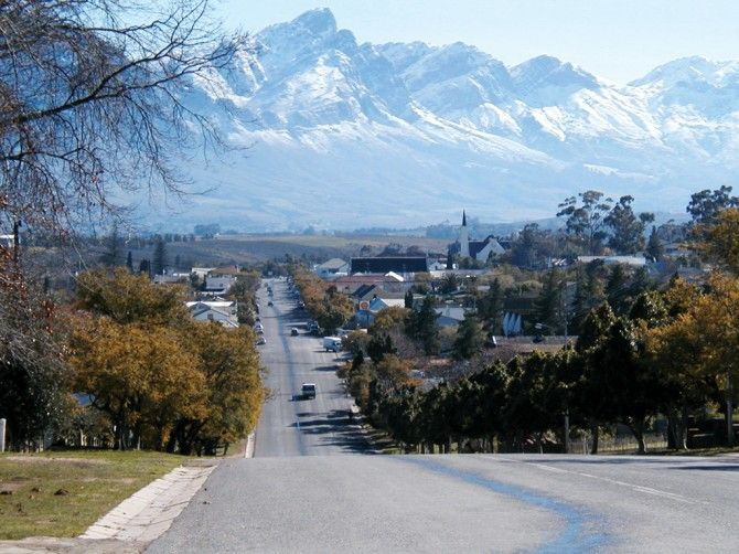 Tulbagh in winter, South Africa