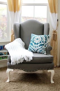 The Sassy Pepper: The fabric paint Chair Project