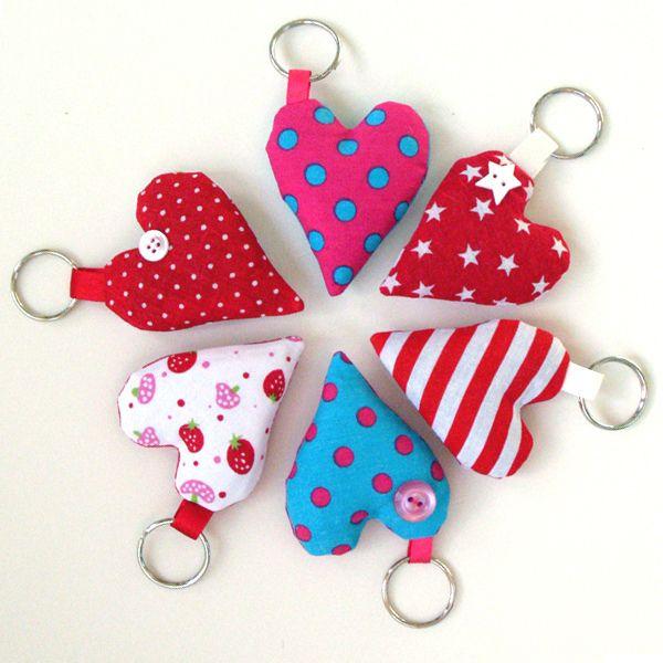 heart keyrings. Nice gift idea for kids to make.