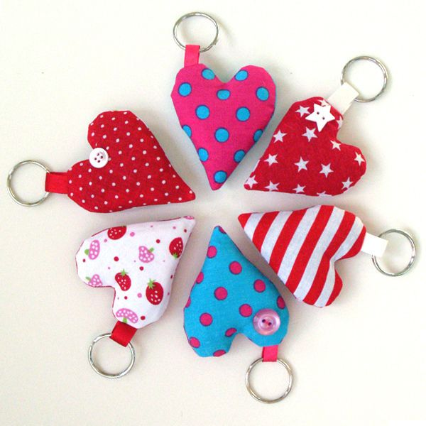 heart keyrings. Nice gift idea for kids to make.