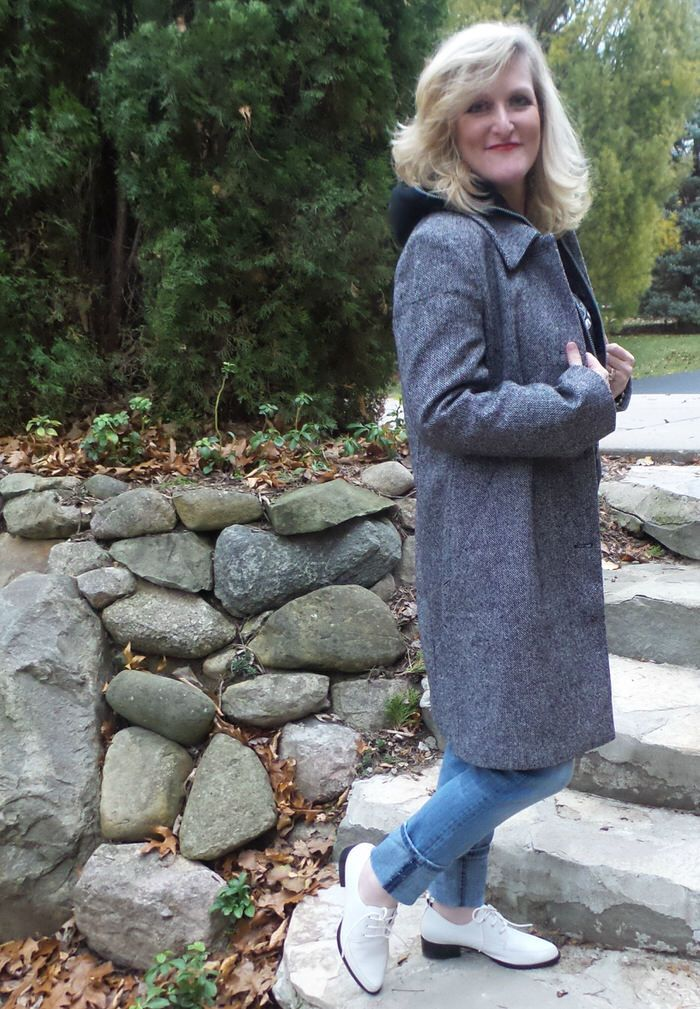 Tweed is the New Black! Shelley Zurek (55) the Chief Blonde at @stillblondeaaty models the 3/4 Length Chadwicks of Boston Wool Coats--3 different ways.  Tweed is the New Black! Loving @ChadwicksBoston Wool Coats. You will love Chadwick's of Boston's selections as well.  #ChadwicksofBoston #affordablequality #ad