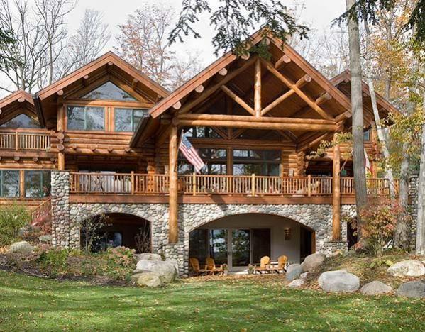 31 Best Hybrid Log Homes 1 2 Log Siding Images On