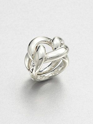 Pomellato 67 Sterling Silver Knot Ring Rings Jewelry Fashion Silverrings | For