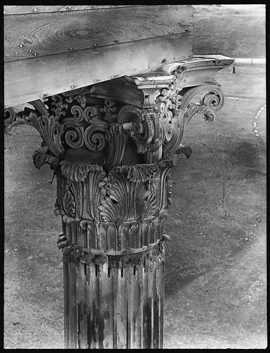 [Corinthian Capital, Belle Grove Plantation, White Castle, Louisiana]  Walker Evans, 1935. http://www.metmuseum.org/Collections/search-the-collections/274274?rpp=20pg=1ao=onft=grovepos=9