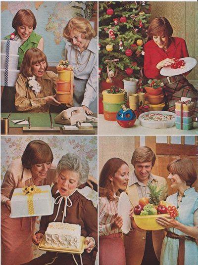 Vintage 1970s tupperware gifts advertisement scan