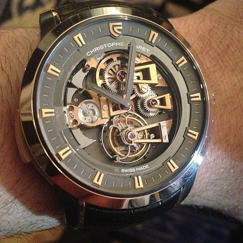 Christophe Claret Soprano Westminster Minute Repeater #Tourbillon #watch  in gold and black. Beautiful movement and functions. #watchporn #instawatches #christopheclaret #ablogtowatch