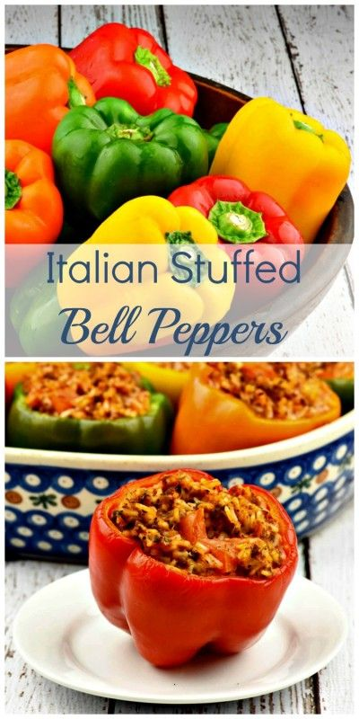 Italian Stuffed Bell Peppers add a touch of elegance to any meal! You will be surprised how easy they are to make!