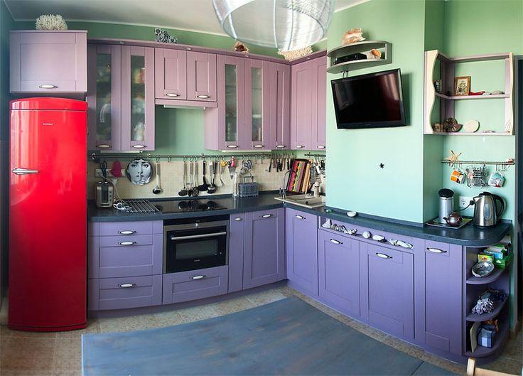 Оригинальная Г-образная кухня, фото 1