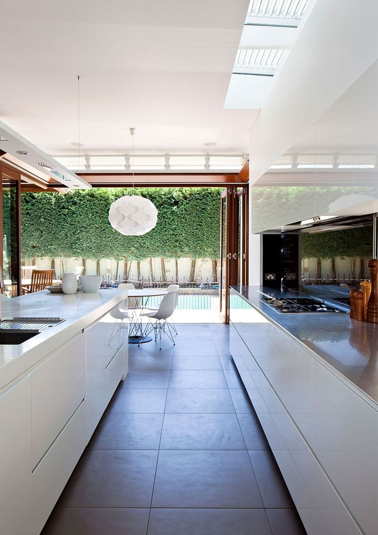 Open floor living plan visually connected with the outdoors
