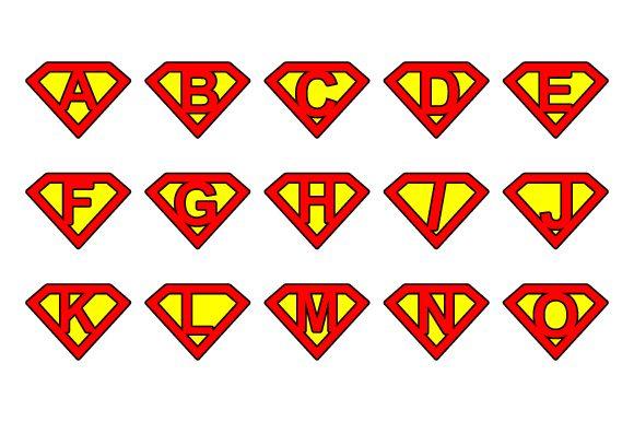 #Super alphabet #letters - rounded by stockimagefolio on Creative Market