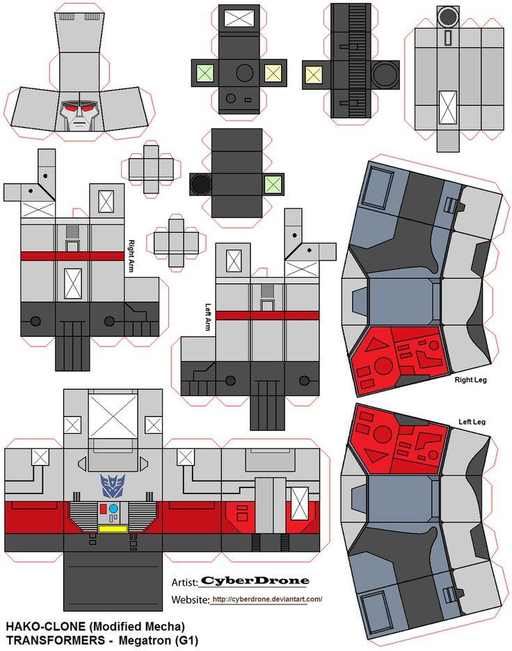 Megatron Papercraft  Credit to :- https://cyberdrone.deviantart.com/art/Hako-Clone-Megatron-G1-187171259