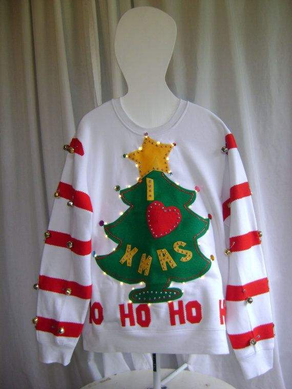 The GRINCH Ugly Christmas Sweater lights up von Thecostumestop