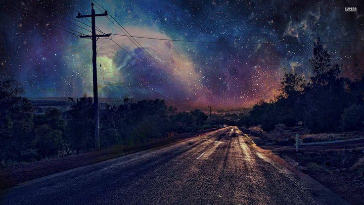night road in iowa